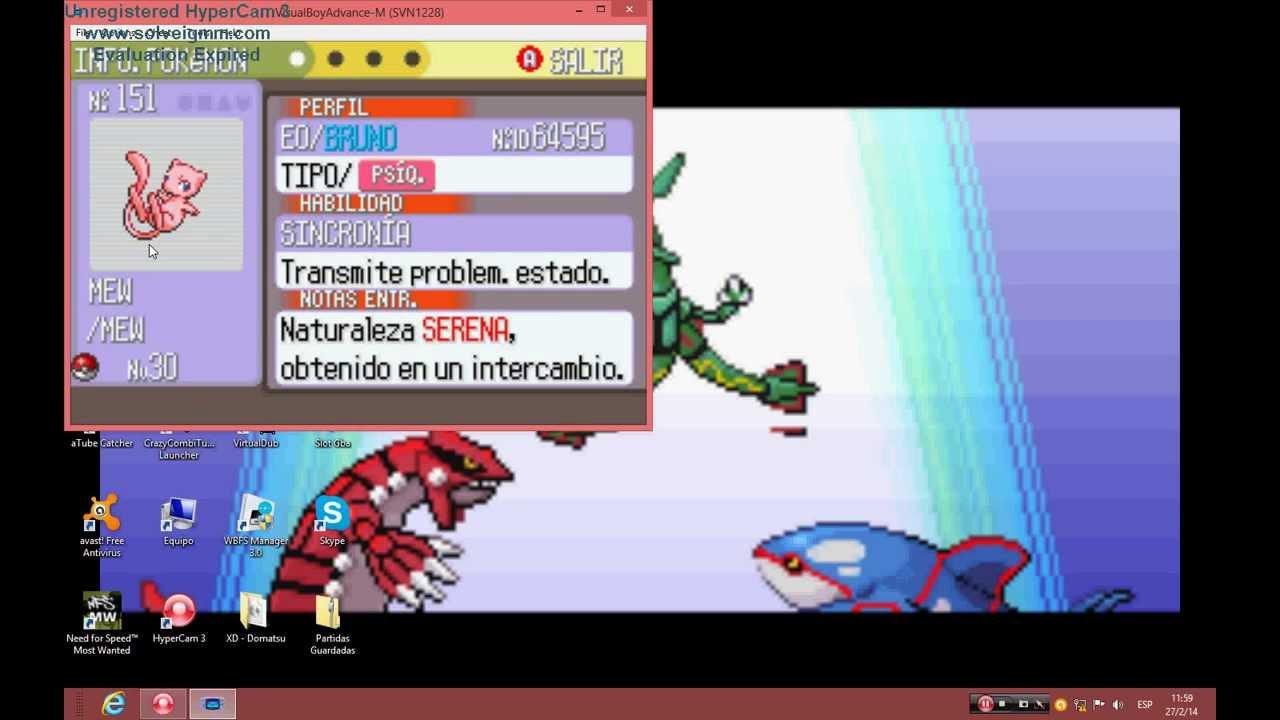 partidas guardadas de pokemon esmeralda gba