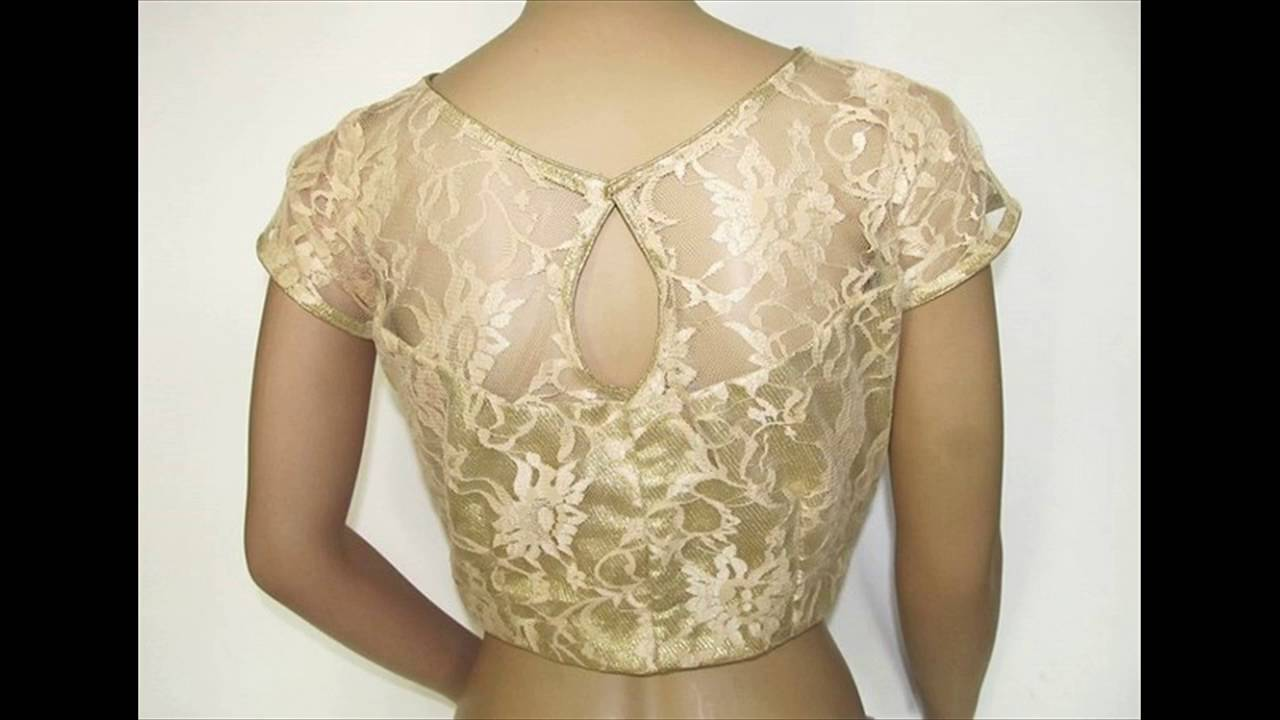 net saree blouse neck designs youtube