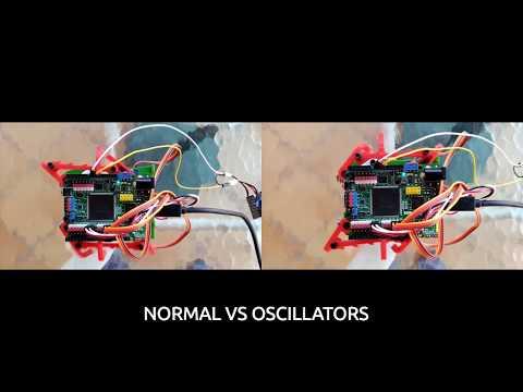 Doodle robot using Oscillators in an open source fpga