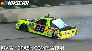 Nascar - 2017 - Iowa - Crash Compilation