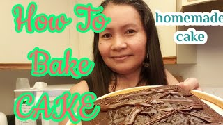 HOW TO MAKE EASY AND SIMPLE CAKE  SIMPLE RECIPE  BUHAY AMERICA