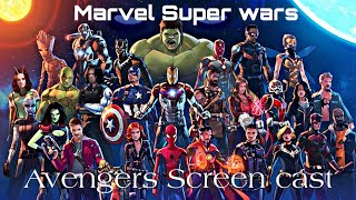 Marvel Super war 2nd beta test 2.6.0 |New avengers characters Screen cast| Marvel's first MOBA game