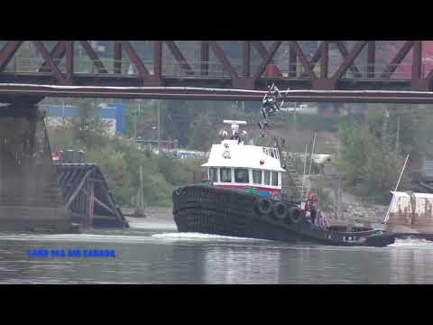 PACIFIC Tugboat HERB L  LEDCOR  Mission rail bridge