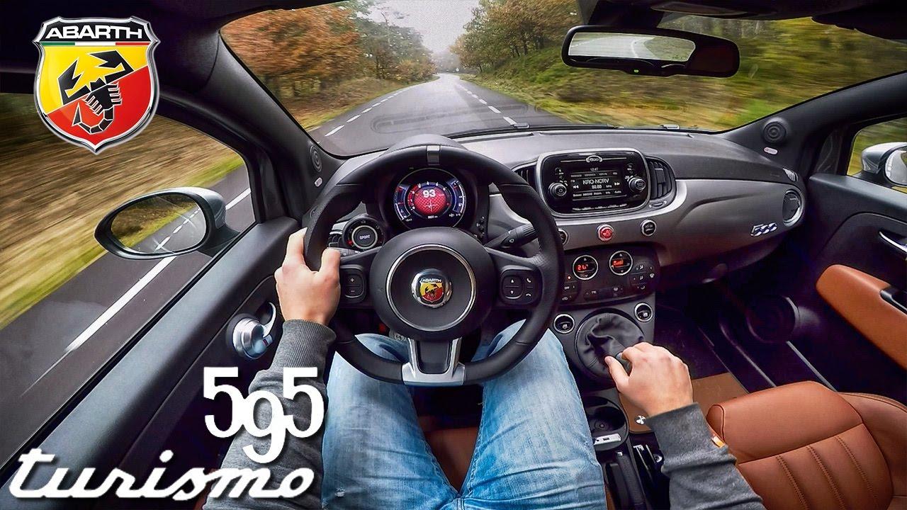 Abarth 595 POV Test Drive Interior & Exhaust Sound - YouTube