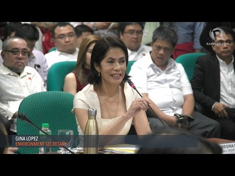 Gina Lopez faces the Commission on Appointments
