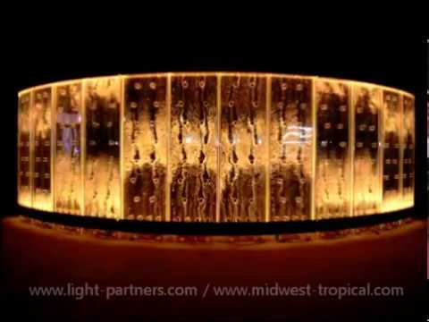 How to Light Custom Bubble Wall Water Walls with LED Lighting Effects-You Have to See This! Amazing!