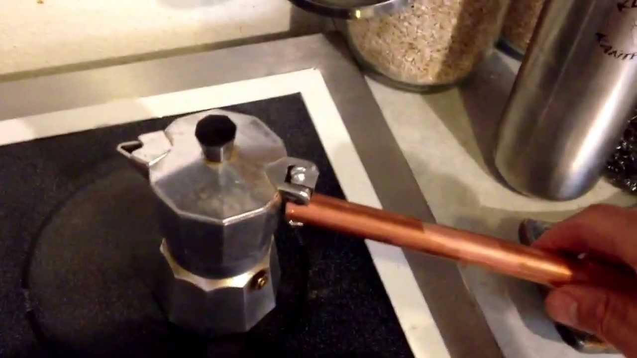 Stovetop Coffee Maker Handle : Moka Pot / Stove top Espresso maker handle repair - UPDATE - YouTube