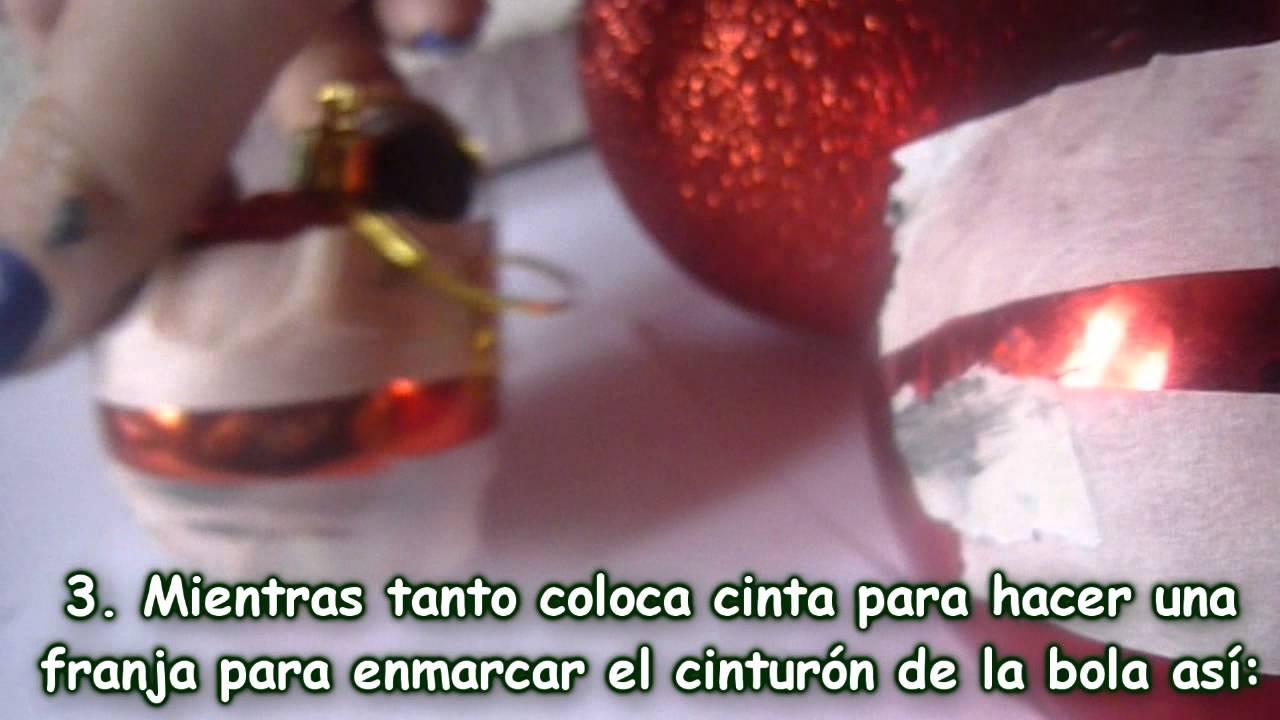 Bolas de navidad de mickey mouse como hacer esferas de - Como hacer bolas para el arbol de navidad ...
