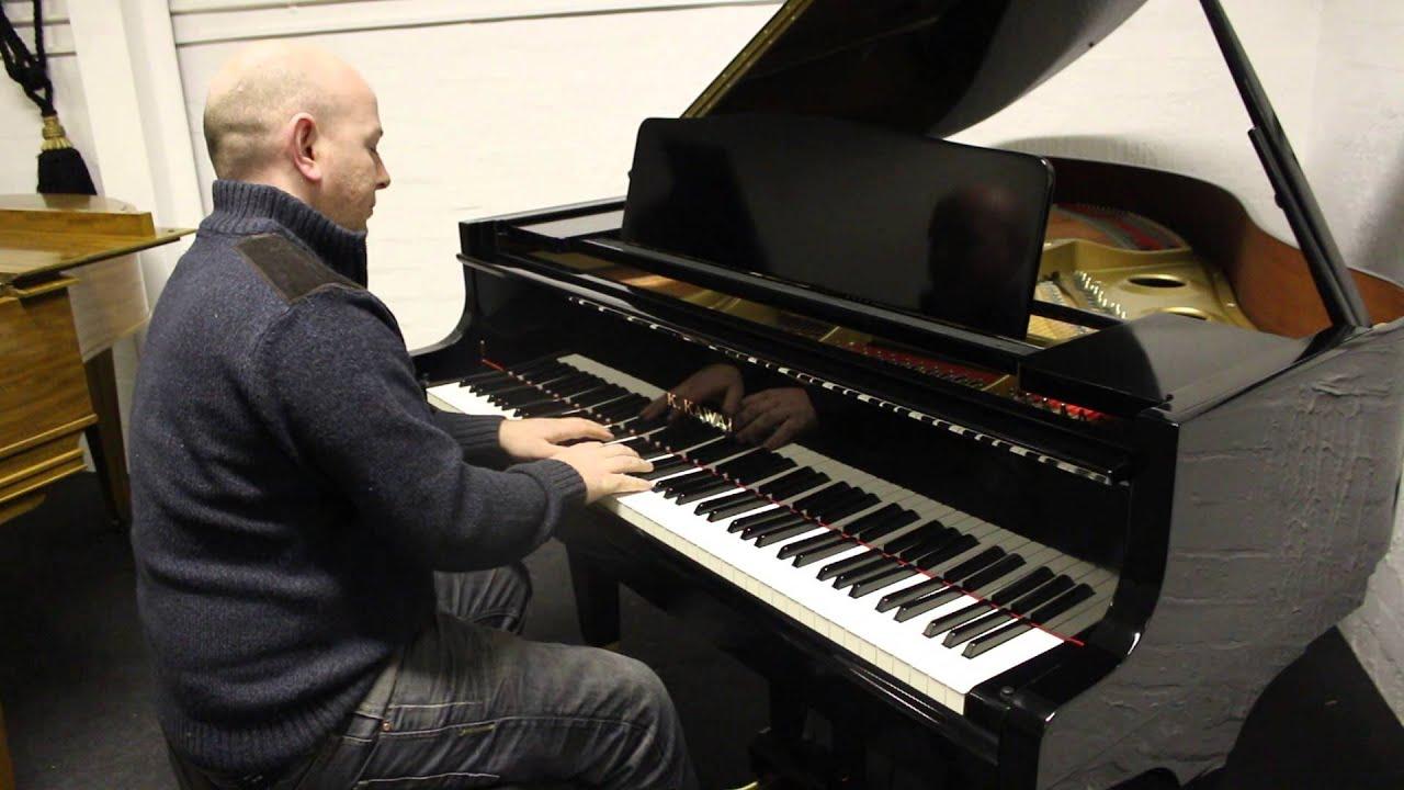 Black Kawai Ge 20 Baby Grand Piano Demonstrated By