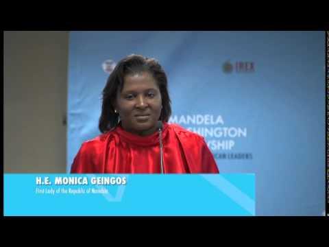 SA MWF Con - 1st Lady of Namibia HE Monica Geingos