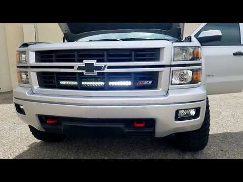 30in Led Light Bar For 14 16 Chevy Silverado 1500