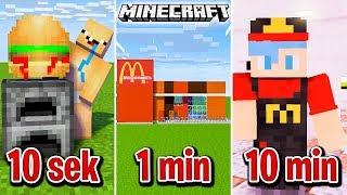 Minecraft BUDUJĘ McDonald's W 10 SEKUND, 1 MINUTĘ I 10 MINUT!