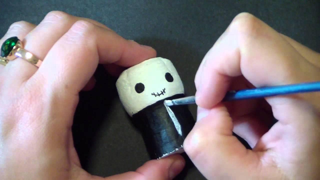manualidad como reciclar tapones de corcho para hacer monstruos de halloween youtube