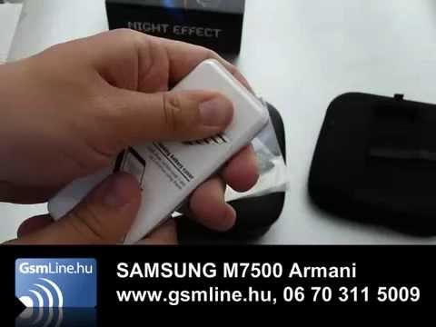 SAMSUNG M7500 Armani | www.GsmLine.hu
