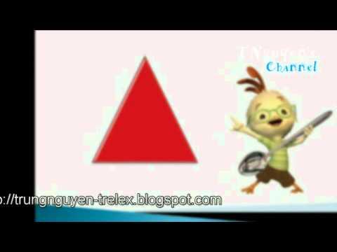 Dạy trẻ hình tam giác, hình tròn.