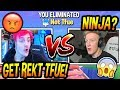 TFUE VS NINJA *SECOND* EVER 1V1 IN A PUBLIC MATCH! (CRAZY!) Fortnite EPIC & SAVAGE Moments