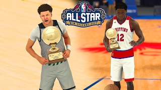 Nba 2k17 - high school all-star weekend|slam dunk contest & 3pt contest !!!