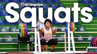 Squat Compilation 2016 Junior Worlds Weightlifting Training Hall