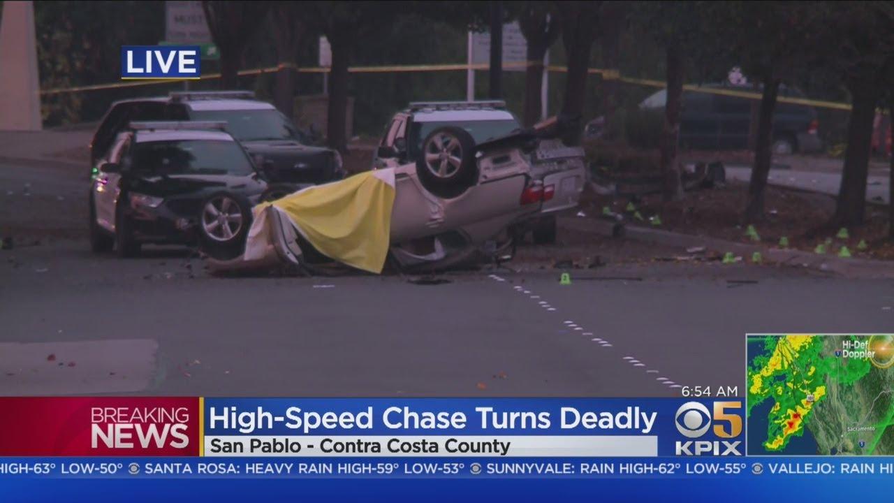 San Pablo: Police chase ends in fatal crash