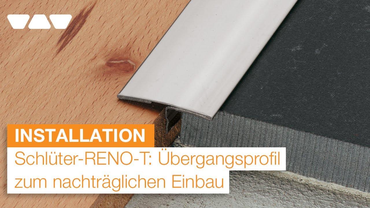 Nachtraglich Sichere Ubergange Schaffen Schluter Reno T Youtube