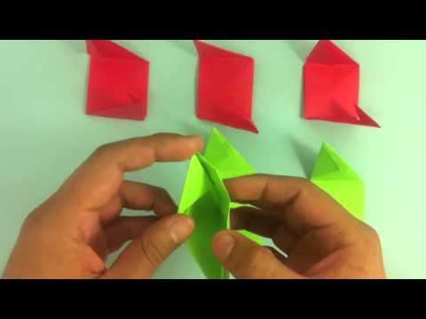 Rosa de origami - Flor de papel - YouTube