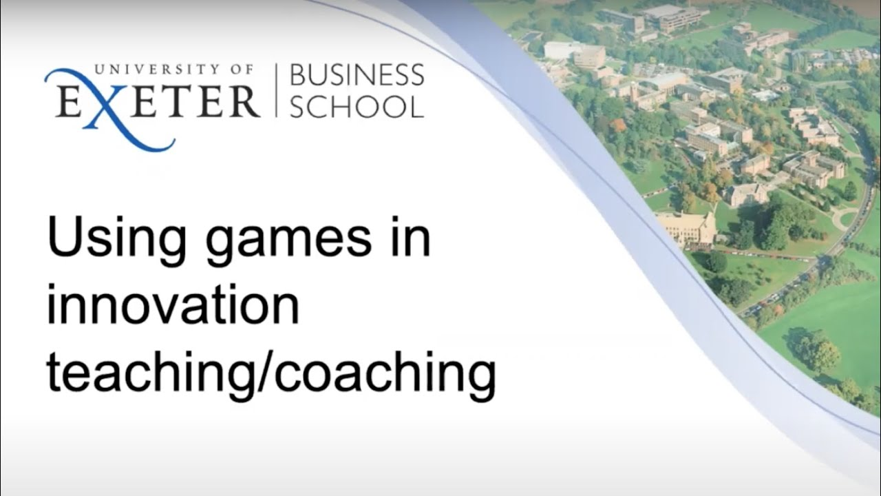 Using Innovation Games for Teaching and Coaching innovation by John Bessant
