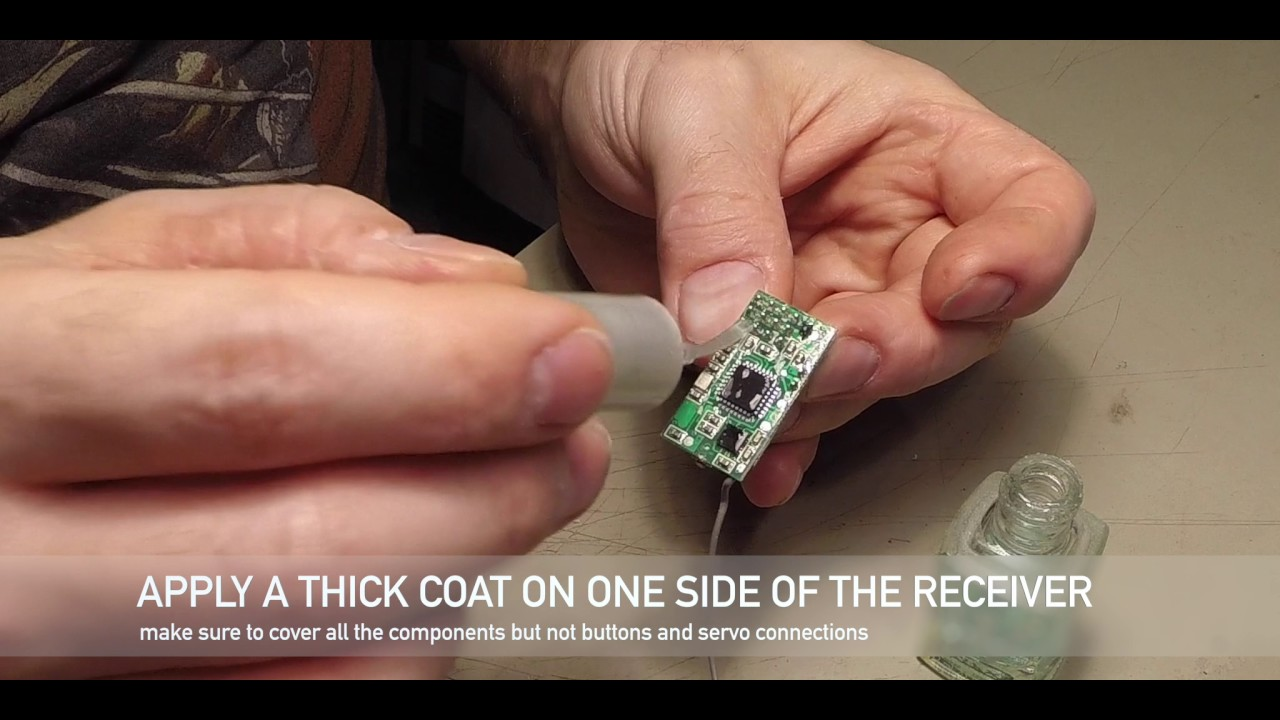 Quick Tip Waterproofing A 2 4ghz Receiver With Clear Nail Polish