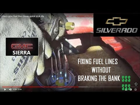 chevy gmc fuel line cheap quick trick diy