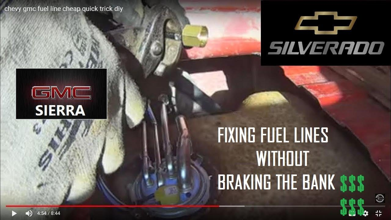 chevy gmc fuel line cheap quick trick diy youtube 2002 Chevy Silverado Neutral Safety Switch chevy gmc fuel line cheap quick trick diy
