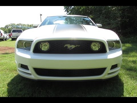 sold2013 ford mustang gt coupe 400a 6spd man white black stripe ford of murfreesboro 888 439 8045 youtube