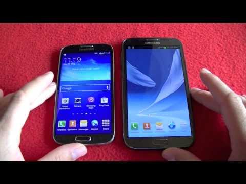 Samsung Galaxy Note 2 vs Galaxy S4, comparativa (en español)