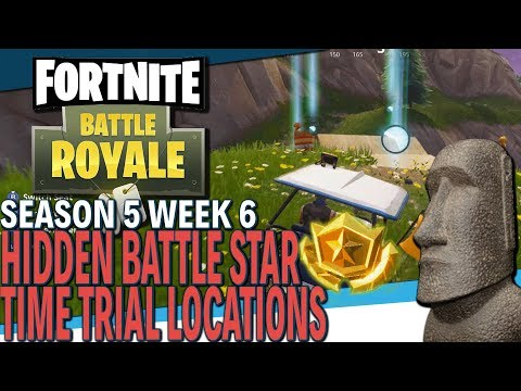 FORTNITE | Season 5 Week 6 Challenges | Hidden Battle Star And Time Trial Locations