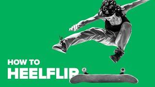 Как сделать хилфлип на скейте (How to Heelflip on a skateboard)