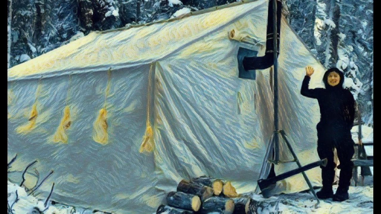 & Canvas Tent With A Woodstove- This stove is on Fire! - YouTube
