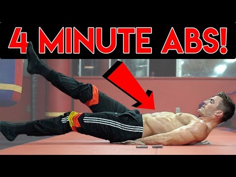 4 Minute Abs | Beginner Six Pack Ab Workout for Men & Women