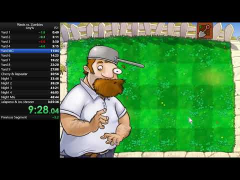 Plants Vs. Zombies - Any% In 3:25:08