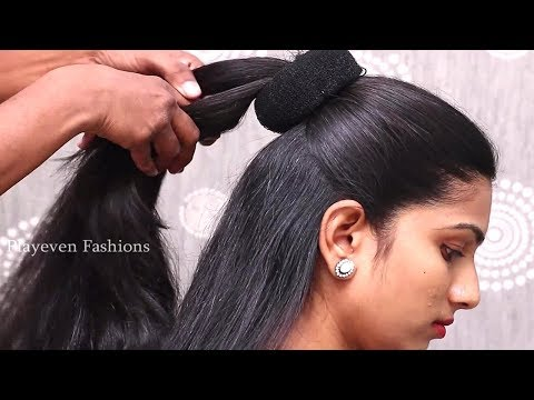 Easy wedding Guest hairstyle in sarees | hairstyles for medium Long Hair | Hair style girl thumbnail
