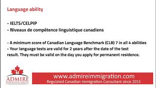 Federal Skilled Worker Program, ADMIRE IMMIGRATION SERVICES INC.
