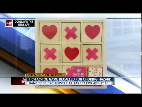 Target recalls Magnetic Tic-Tac-Toe games due to choking and magnet ingestion hazards