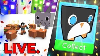 MERRY CHRISTMAS! Streaming Until i Get The Penguin or Fall Asleep | Pet Simulator