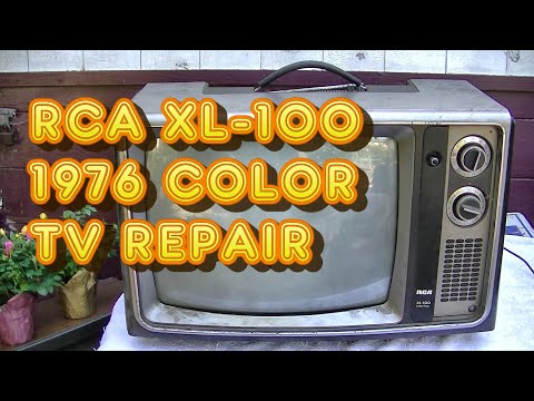 Repairing 1976 RCA XL100 CTC74 Color Portable Table Top Vintage Television