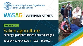 Webinar: Saline Agriculture - Scaling up Opportunities and Challenges