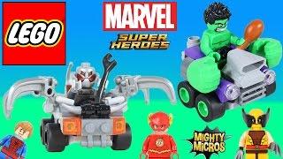 Lego Marvel Super Heroes Mighty Micros Hulk vs. Ultron! Lego Mini Figures play Super Heroes!