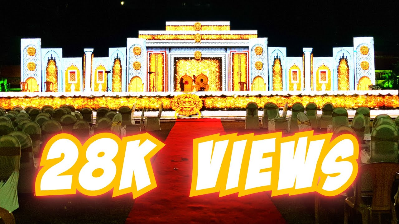 3D LED Video Wall Wedding Marriage Reception Event Stage Decoration India