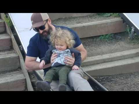 Beau and Flynn Slide in Santa Cruz 12-27-16