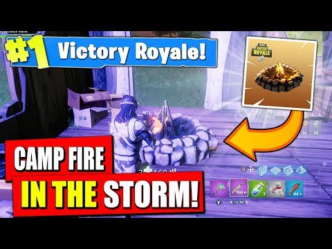 USING THE COZY CAMP FIRE IN THE STORM in Fortnite Battle Royale! (INVINCIBLE)