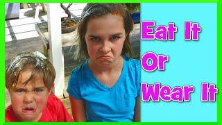 eat it or wear it food tasting challenge gross family fun