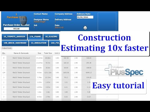 Construction estimating software that