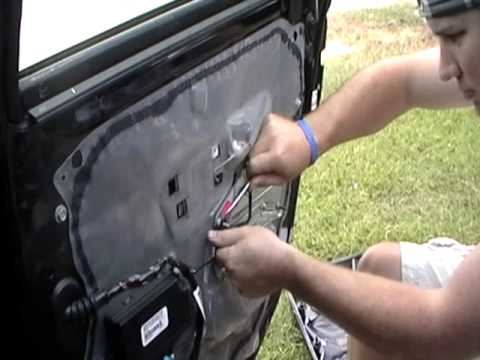 How To Remove Window Regulator From Right Rear Door