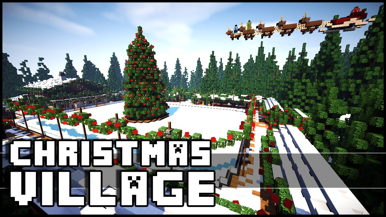 Minecraft Christmas Houses.Minecraft Christmas Village Christmas Inspiration